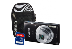 Canon IXUS 145 Black / Canon SORA Bag / SANDisk 4GB SD Card