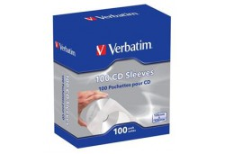 Verbatim CD Single Sleeves 100 in a Pack